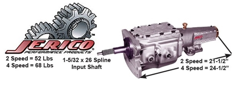 Two and Four Speed Transmission, Jerico, . For Pricing Call 800-221-1851