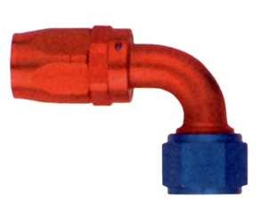 Hose Fitting, 90 Degree, Swivel, Aluminum