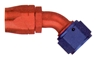 Hose Fitting, 45 Degree, Non-Swivel, Aluminum
