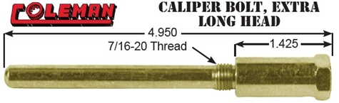 CALIPER BOLT, EXTRA LONG HEAD