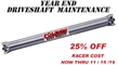 YEAR END DRIVESHAFT MAINTENANCE